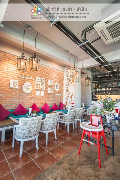 โซน indoor ของร้านอาหาร