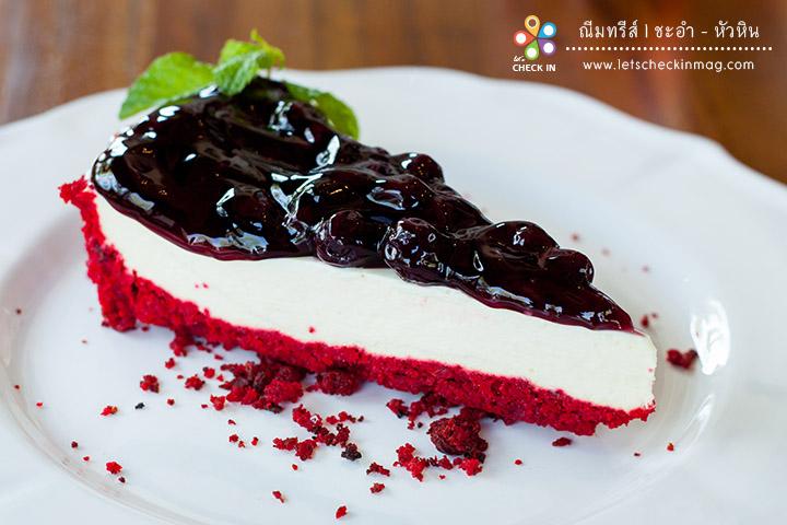 Red Velvet Blueberry Cheese Pie