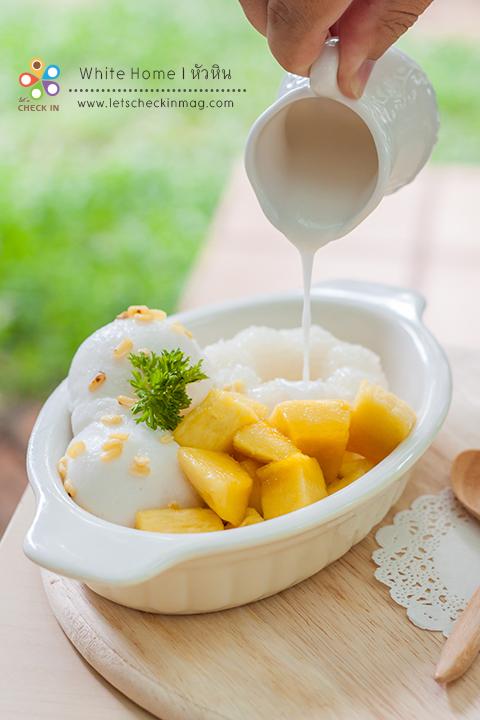 ไอศครีมมะพร้าวโฮมเมด + ข้าวเหนียวมะม่วง