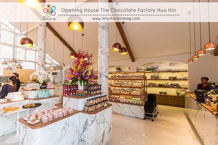 มุมสำหรับนักช็อป ขนมนานาชนิดรวมไปถึงช็อคโกแลตหลากรสวางรอให้เลือกกลับบ้าน