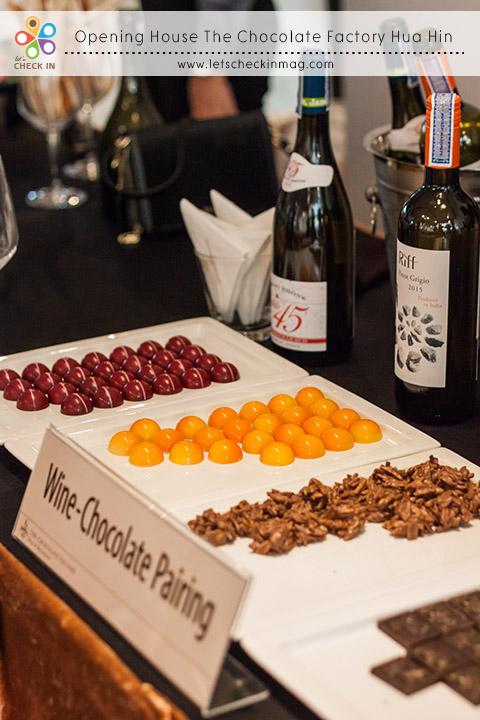 เริ่มงาน Opening House กันด้วย Wine & Chocolate Paring ชิมไวน์คู่ช็อคโกแลต