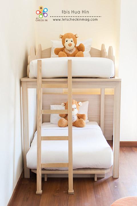 เตียงสองชั้นสำหรับเด็กๆ น่ารักน่านอนมากๆ
