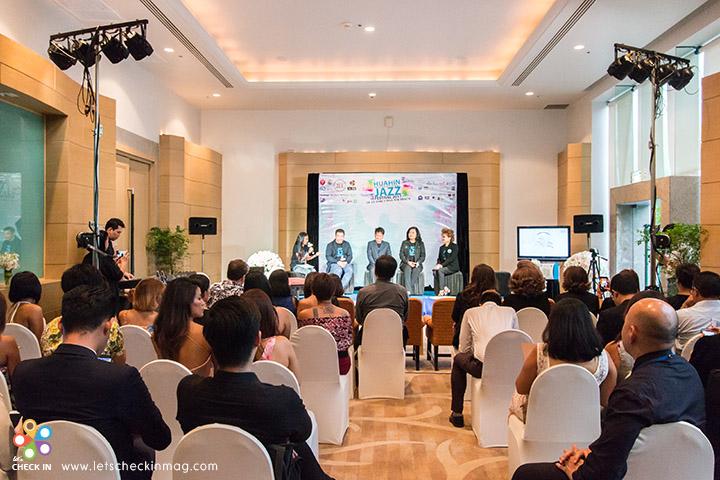 ถาพบรรยากาศการแถลงข่าวงาน Hua Hin International Jazz Festival 2017 ณ โรงแรม ฮิลตัน หัวหิน เมื่อวันที่ 2 มิถุนายน 2560 ทีผ่านมา
