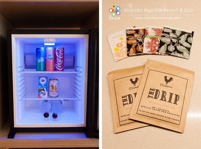 มินิบาร์ในห้องฟรีทั้งหมด ดื่มได้ทุกอย่างในตู้เลยจ้า กาแฟเป็นกาแฟดริปซะด้วย