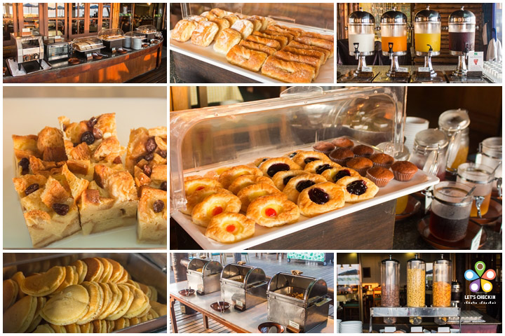 ขนมปัง pastry แพนเค้ก เบรดพุดดิ้ง เฟรชโทสต์น้ำผลไม้ นม ซีเรียล