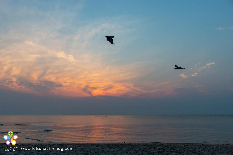พระอาทิตย์ขึ้น หาดชะอำ