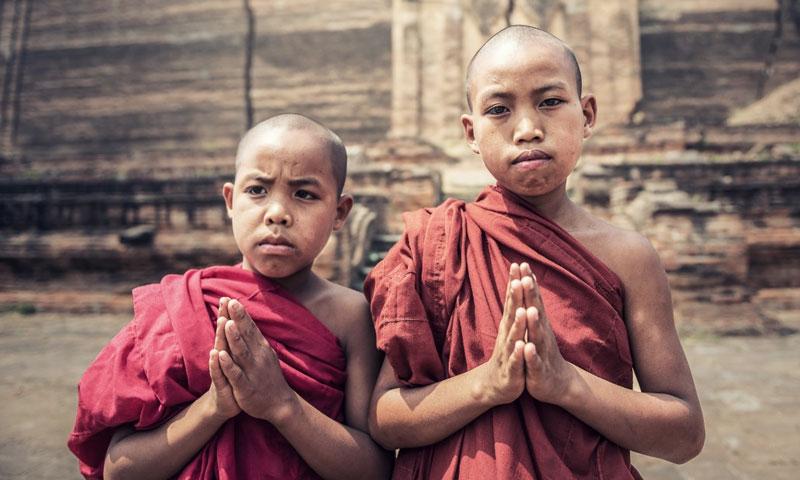 Teaching Buddhist Monks in Nepal