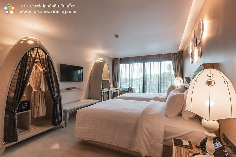 ห้องเตียงคู่ โรงแรมราชาบุระ