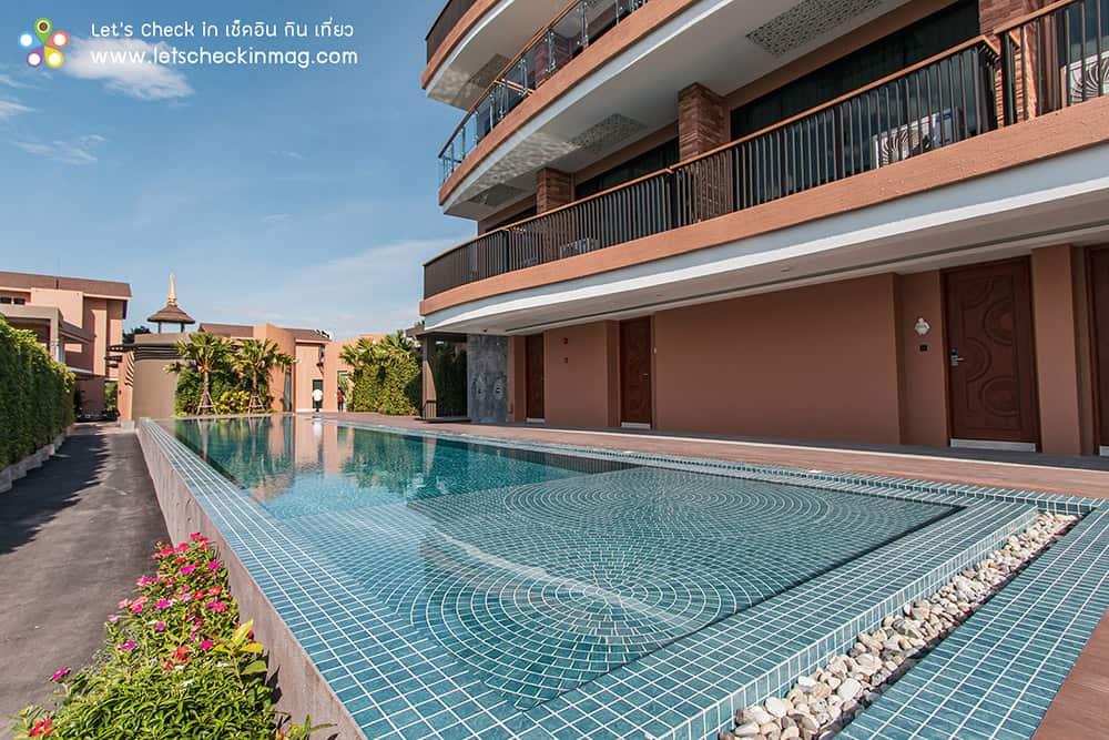 สระว่ายน้ำ โรงแรมราชาบุระ
