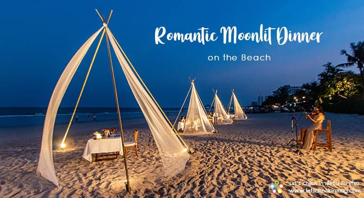 Romantic Moonlit Dinner On The Beach